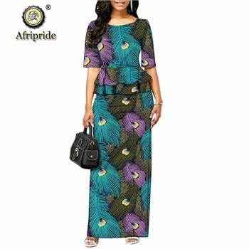 2019 الفساتين الرسمية الأفريقية للنساء dashiki اللباس bodycon اللباس أنقرة طباعة الشمع الباتيك أنقرة النسيج AFRIPRIDE S1925055 1