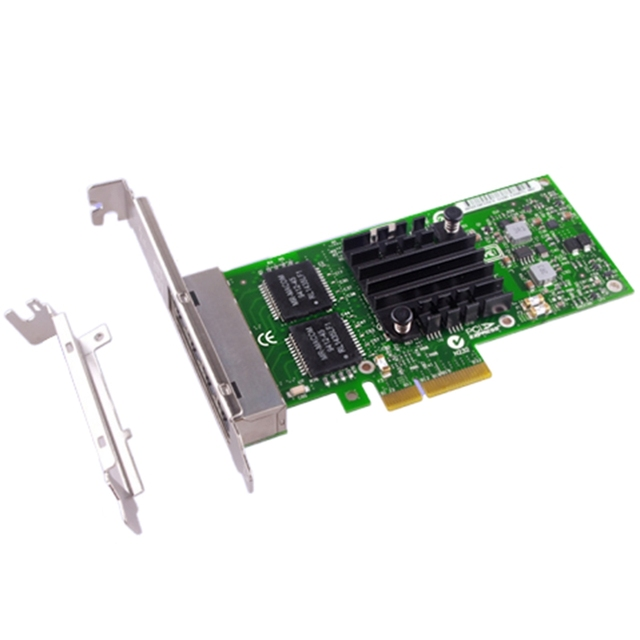 I340-T4 E1G44HT Gigabit Ethernet Server Adapter In-tel 82580EB PCI Express X4 1G Network Card