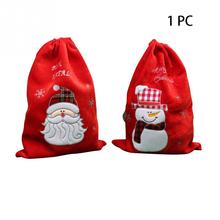 Drawstring Christmas Gift Bags Gold Velvet Pouch Kids Portable Candy Bag Decoration Storage