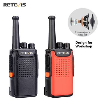Retevis RT667 PMR446 Radio Walkie Talkie 2 pcs 3000mAh PMR 446 VOX Non-magnetic Speaker Walkie-Talkies Two-way For Hunting - discount item  33% OFF Walkie Talkie