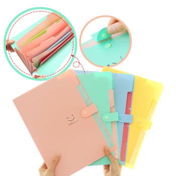 Nowe wielowarstwowe dokumenty A4 dokumenty informacyjne klamra 10 kolorów przechowywanie plików 5 w Organizer folderów PVC 1 9 (mm) tanie i dobre opinie CN (pochodzenie) Rozszerzenie portfel a4-03 Multi-page folder 32 4*23 6*1 9cm 0 25 (mm)