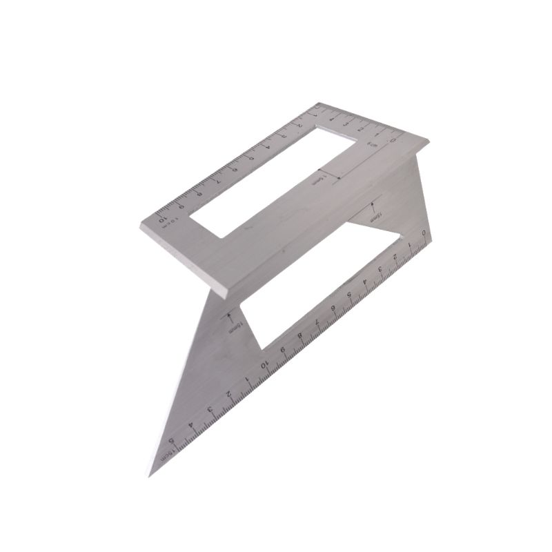 Aluminum Alloy Wooden Square Angle Ruler 45/ 90 Degree Woodworking Gauging Angle Scribe Mark Line Gauge Measuring Tool