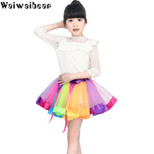 купить Waiwaibear Summer Tutu Dress For Girls Dresses Kids Clothes Wedding Events Birthday Party Costumes Children Clothing по цене 461.13 рублей