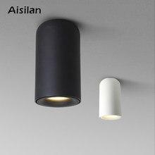Lâmpadas de teto led aiselo nórdico, AC85-260V branco/preto, para sala de estar, para quarto e candeeiro