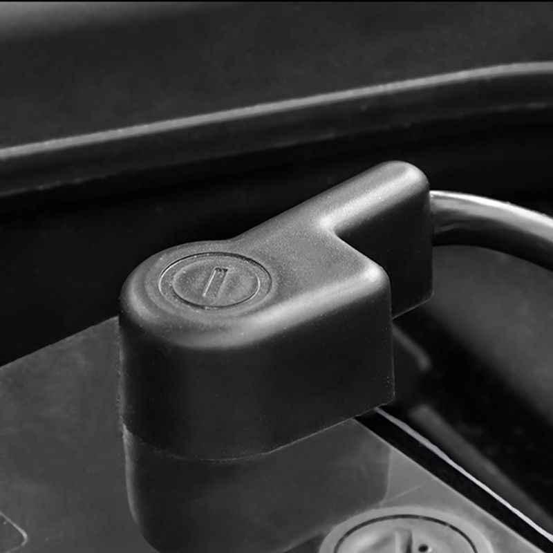 ABS 자동차 배터리 배터리 닛산 Qashqai Dualis J10 2008 - 2013 용 음극 극 단자 커버 트레이