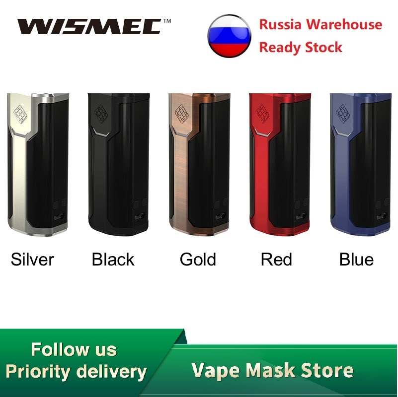 Original Wismec Sinuous P80 TC Mod Powered By 18650 Battery Sinuous P80 Box MOD 80W VW/Bypass Electronic Cig Vape Vaporizer