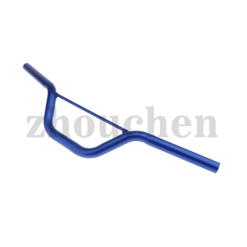 Pit Bike Dirt Poket cross 29 1/8in Manillar de aluminio con puntal azul
