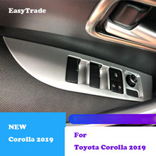 4PCS For Toyota Corolla 2019 accessories Car Window Switch Cover Button Panel Trim inner armrest decoration car accessories недорого
