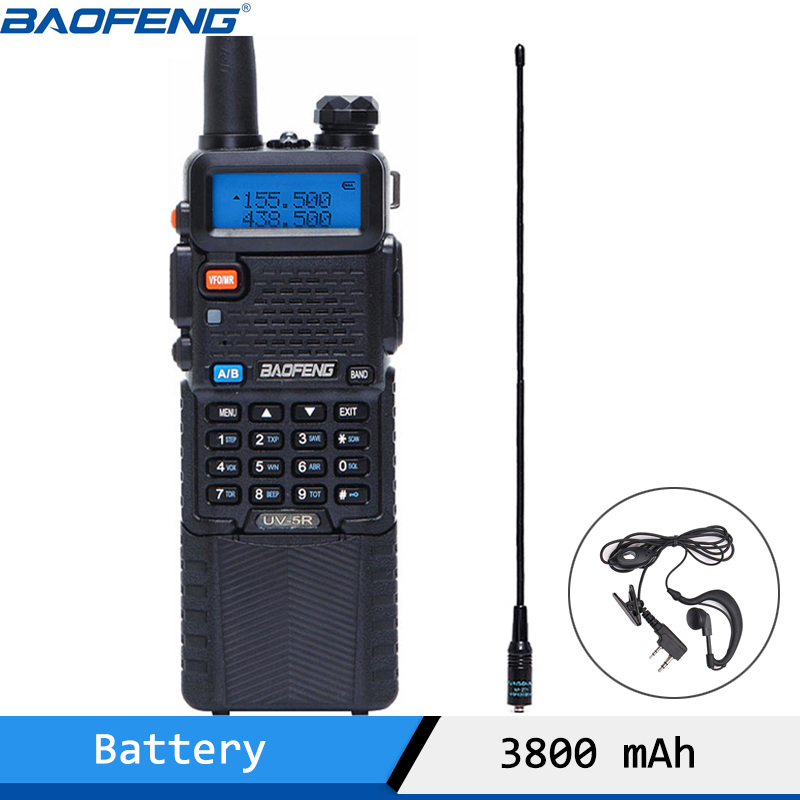 Baofeng VHF UHF Walkie-Talkie Portable Radio Dual-Band 136-174mhz BF-UV5R 5W 400-520mhz