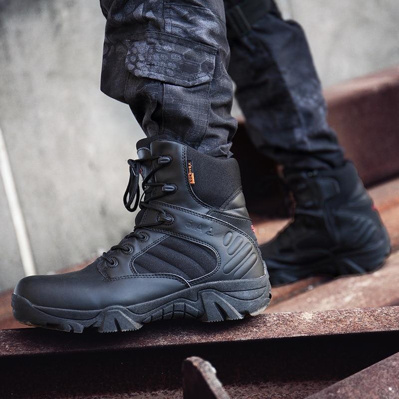 Cross-Border For Boots Men's Hight-top Delta Combat Boots Plus-sized Desert Boots Slip Resistant Tactical Boots Factory Direct
