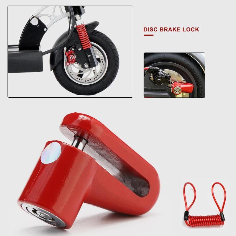 Противоугонные колеса дисковые тормоза замок для скутера для Xiaomi Mijia M365 электрический скутер аксессуары велосипедный замок безопасности со стальной проволокой Детали и аксессуары для скутера    - AliExpress