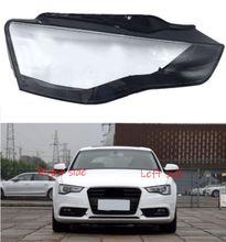 Dla Audi A5 2012 2013 2014 2015 2016 reflektor samochodowy pokrywa reflektor obiektyw Auto Shell cover tanie tanio Reflektory CN (pochodzenie) Headlamp Shell Headlights