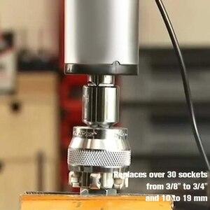 Image 2 - Clé multifonction adaptative, douille de fixation multi perceuse, acier au chrome, molybdène, outils à main