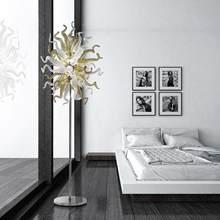 Lampadaire led en verre soufflé moderne décorations d'intérieur de luxe pour le salon