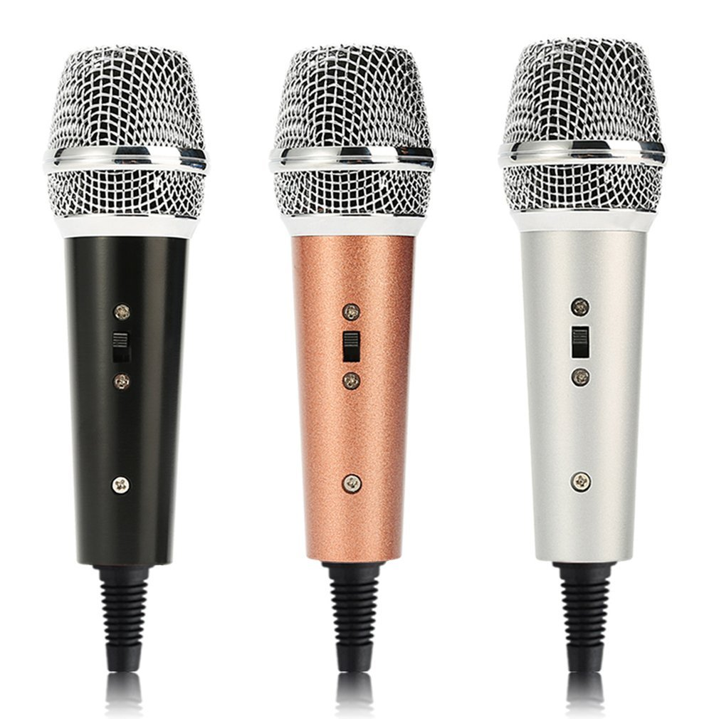 Professional Condenser Microphone Studio Vocal Handheld Microphone With Cable Portable KTV For Mobile Phone Party Singing