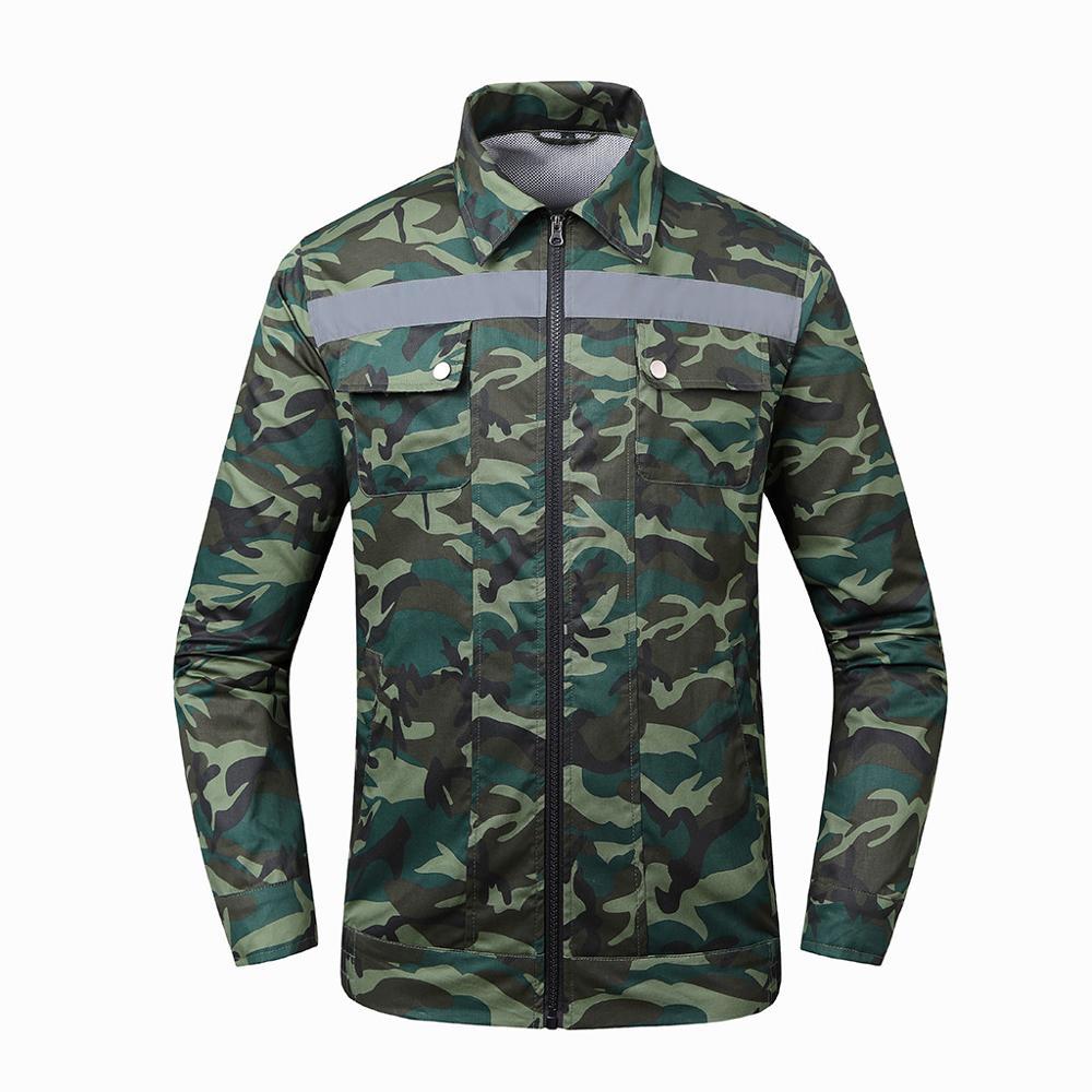 Hommes climatisation coup de chaleur contre mesures extérieur vestes vêtements de travail grande taille Camouflage imprimé imperméable manteau