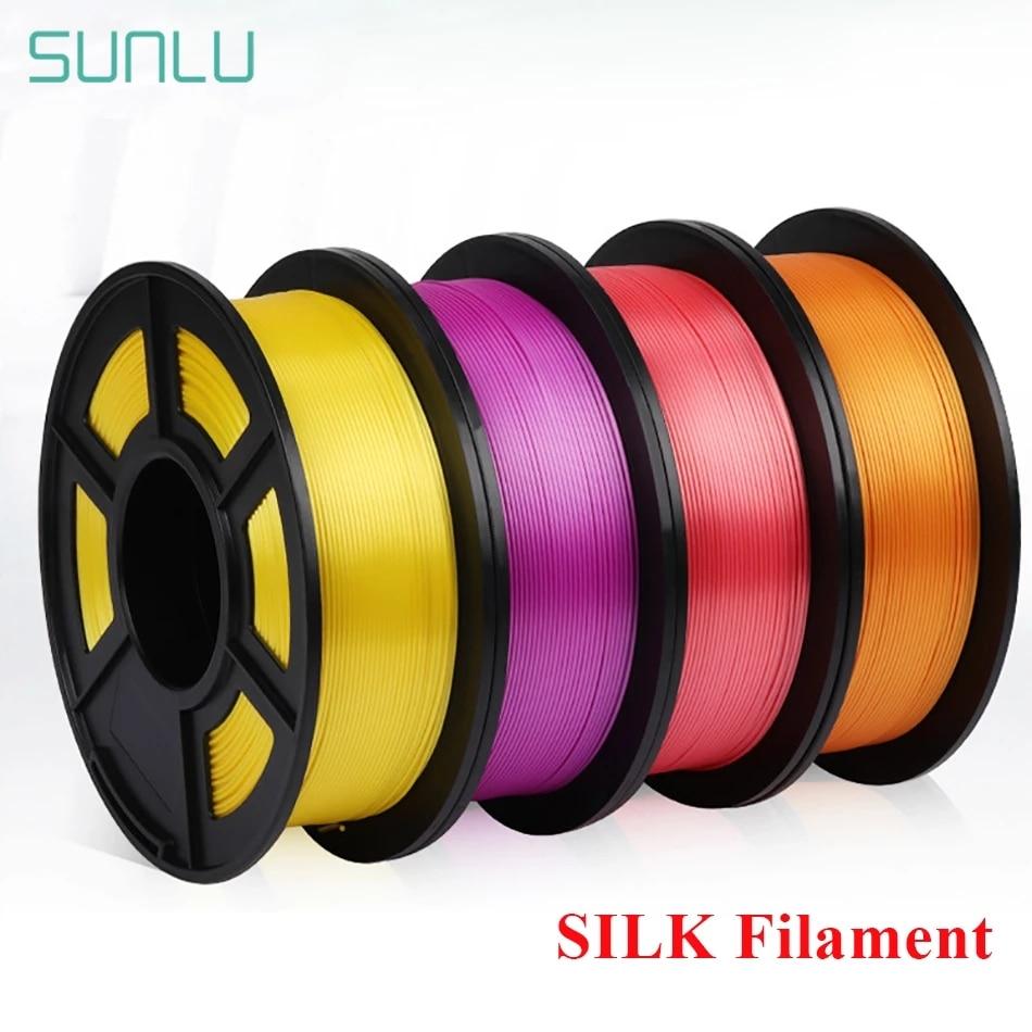 Нить PLA SUNLU шелковая для 3D-принтера, 1,75 мм, 1 кг