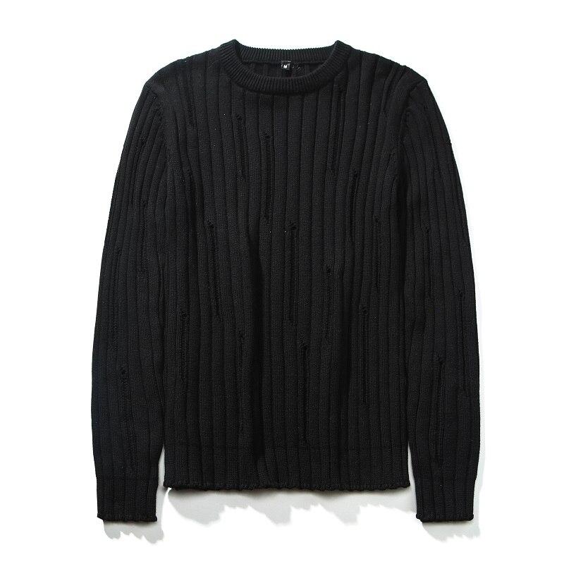 Sweater Men Cotton Solid White Gray Black Pullover Men Sweater Male 2019 Casual Knitted Sweater Men Autumn Winter Pullover Men