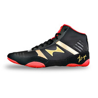 Men Lace Up Cow Muscle Wrestling Shoes Breathable High Cut Boxing Sneakers Mens Lightweight Damping Sneakers