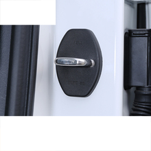 Lsrtw2017 Abs Stainless Steel Car Door Lock Buckle Cover Limit Coverfor Skoda Karoq Interior Mouldings Accessories