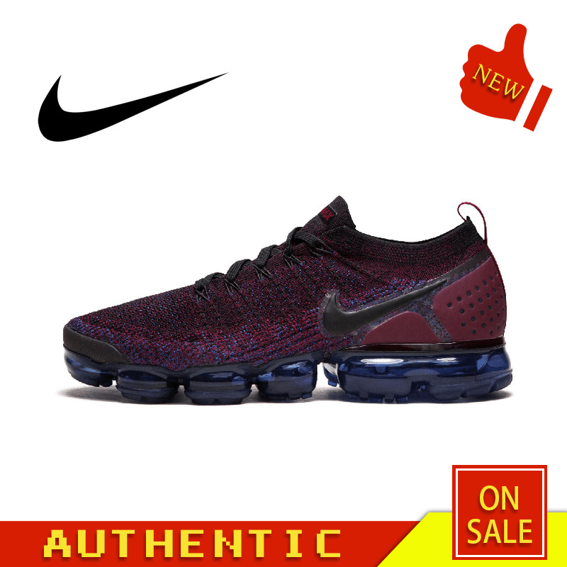 Authentic Original NIKE AIR VAPORMAX FLYKNIT 2.0 Men's Running Shoes Fashion Outdoor Sports Trend 2019 New 942842-006