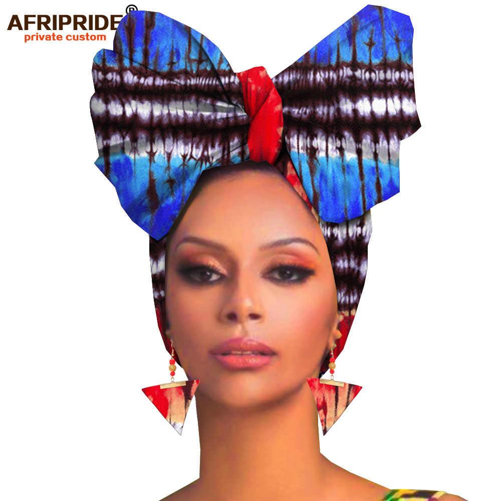 Afrika headwraps + küpe 2 parça setleri kadınlar için afrika başörtüsü ankara geleneksel headtie eşarp türban AFRIPRIDE A19H007