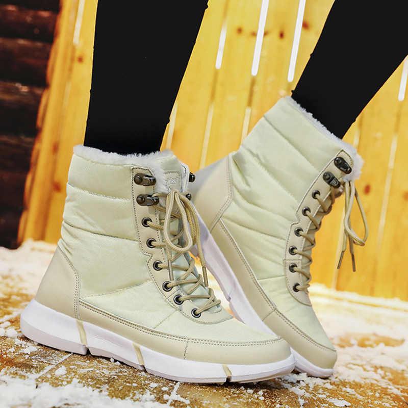 נשים מגפי חורף נעלי נשים שמור בפלאש קרסול אתחול עבור נשים חורף פלטפורמת שלג מגפי נשים נעלי נשים בתוספת גודל