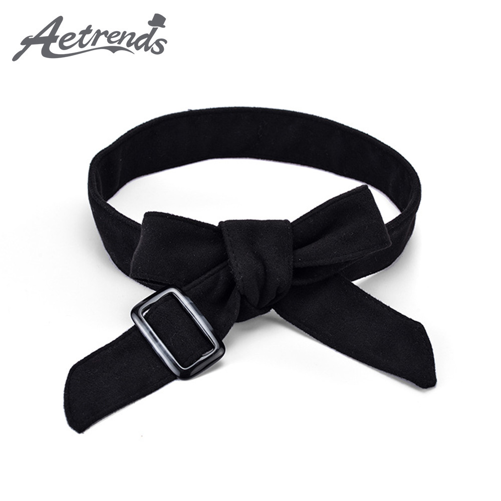 [AETRENDS] Women Double Fabric Obi Belt Self Knot Tie Up Waist Band Corset Cinch Belt D-0147