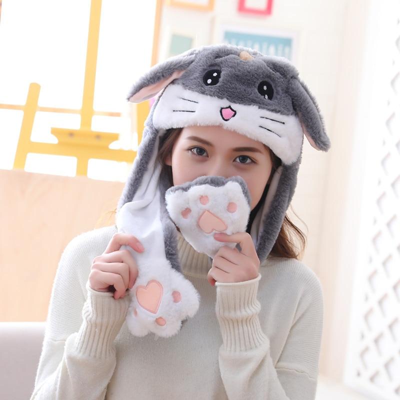 Различные стили милый кролик шляпа с светильник Забавный воздушный поплавок наполнение уха подвижная крышка мультфильм плюшевые игрушки подарки для ребенка