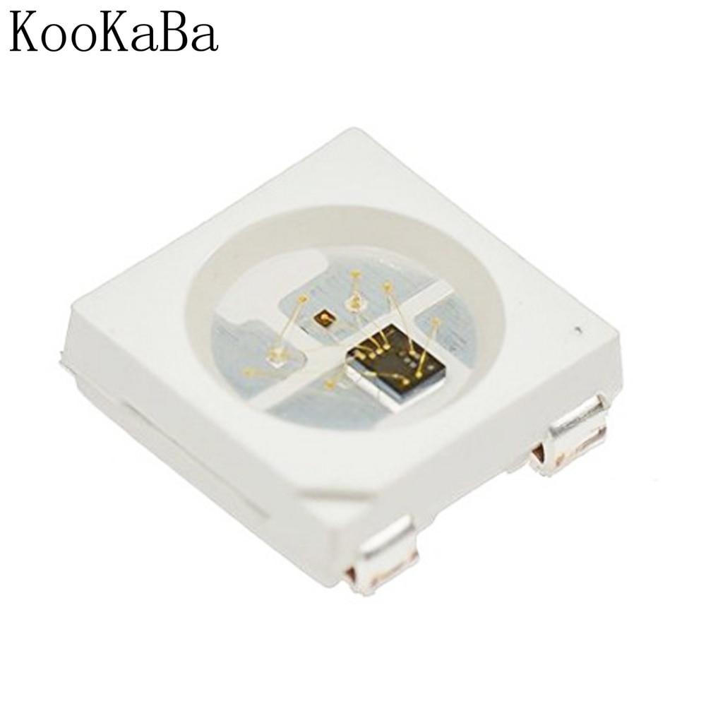 10-1000 шт. WS2812B RGB светодиодный чип 5050SMD черный/белый PCB WS2812 индивидуально адресуемый чип пикселей DC5V
