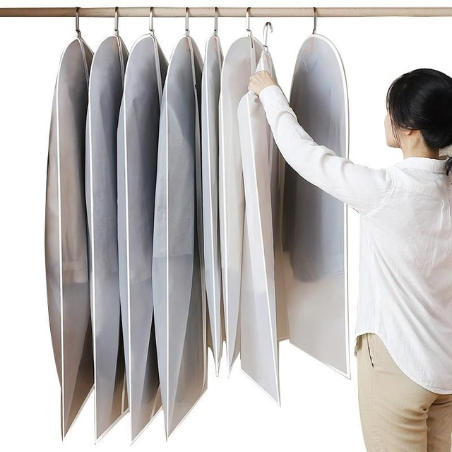 Hot Clothes Hanging Garment Dress Clothes Suit Coat Dust Cover Home Storage Bag Pouch Case Organizer Wardrobe Hanging Clothing 6