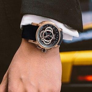 Image 2 - 2020 リーフ虎/RT トップブランドデザイナースポーツの腕時計メンズローズゴールドクォーツ時計クロノグラフ日リロイ hombre RGA3063
