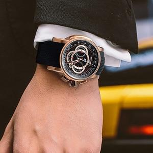 Image 2 - Спортивные часы Reef Tiger/RT от топ дизайнера, мужские кварцевые часы с хронографом из розового золота с датой, RGA3063, 2020