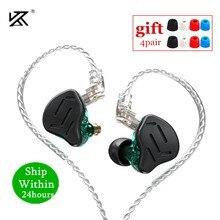 Novo kz zax 1dd 7ba híbrido em fones de ouvido metal alta fidelidade fone de ouvido música esporte kz zsx zs10 pro as12 as16 ca16 c10 pro vx ba8