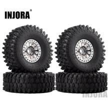 INJORA 4 قطعة معدن 1.9 Beadlock عجلة ريم إطارات مجموعة ل 1/10 RC الزاحف سيارة محوري SCX10 90046 Traxxas TRX 4 Redcat GEN 8