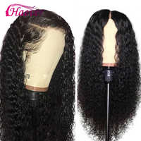 Haever Full Lace Front Human Hair Wigs Kinky Curly Wig Peruvian Lace Closure Wig Pre Plucked With Baby Hair For Black Women