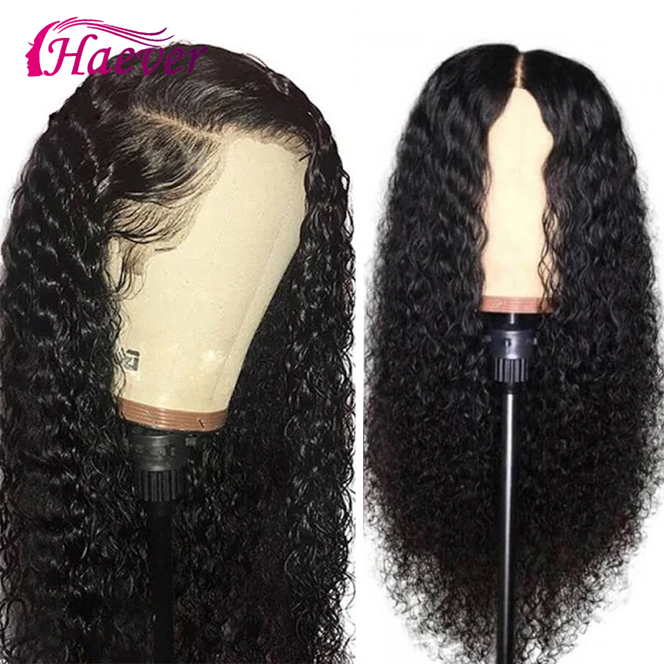Haever Lace Front Human Hair Wigs Kinky Curly Wig Peruvian Lace Closure Wig Pre Plucked With Baby Hair For Black Women