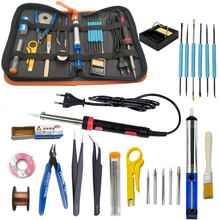 Elektronische lötkolben kit 30W 40W 60W EU UNS 220V 110V lötkolben tool kit einschließlich handtasche solder draht zinn pinzette