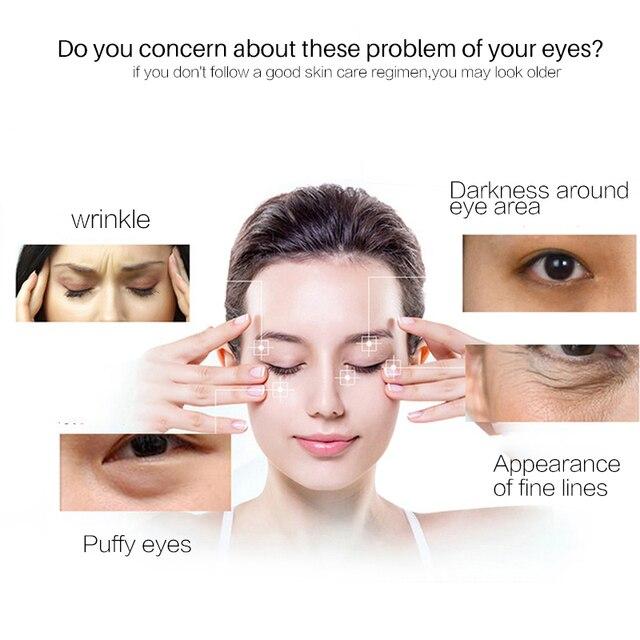 Korean Skin Care Anti Wrinkle Eye Cream Six Peptides Serum Anti Aging Remover Dark Circle Bag Firming nourish eye Balm Mask 20g 2