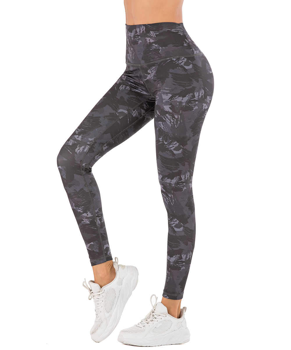 Yaavii High Waist Printed Leggings for Women Yoga Pants with Hidden Waistband Pocket for Gym Running Workout