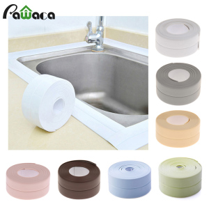 3.2mx38mm Bathroom Shower Sink Bath Sealing Strip Tape Caulk Strip Self Adhesive Waterproof Wall Sticker for Bathroom Kitchen(China)