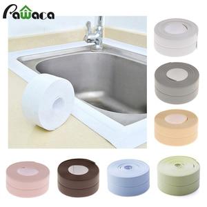 3.2mx38mm Bathroom Shower Sink Bath Sealing Strip Tape Caulk Strip Self Adhesive Waterproof Wall Sticker for Bathroom Kitchen(China)