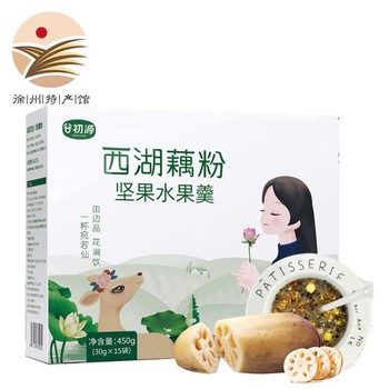 Tip of the Tongue Gourmet West Lake Lotus Root Powder Nut Fruit Soup Nut fruit Lotus Root Powder Soup Handmade Nutritious Fruit недорого