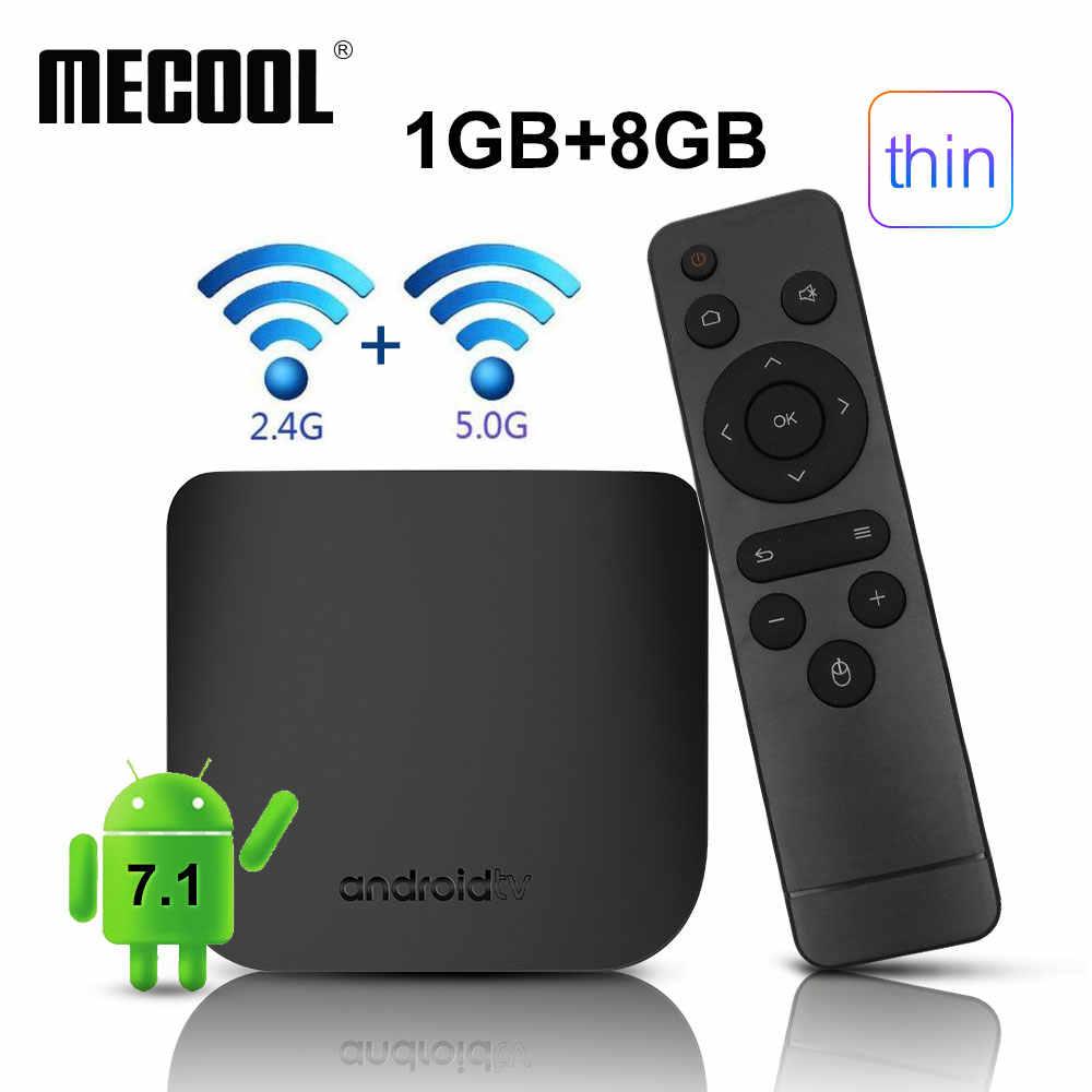 Mecool M8S Plus W Smart TV Box Android 7.1 Amlogic S905W Quad Core Media Player 2.4 Gwifi Dukungan 3D 4K Ultra Tipis HD Set Top Box