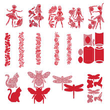 Dancing Girl Insect Flowers Metal Cutting Dies for Scrapbooking New 2019 Craft Die Cut Card Album Ptoho Making Embossing Stencil
