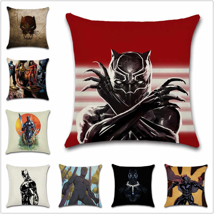 Prime Black Panther Print Cushion Cover Halloween T Pillow Bralicious Painted Fabric Chair Ideas Braliciousco