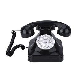 Винтажный телефон, Многофункциональный пластиковый домашний телефон, Ретро античный телефон, проводной стационарный телефон, офисный дома...