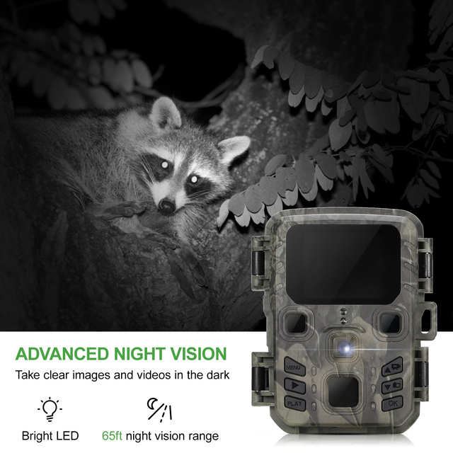 Hunting Trail Camera Mini301 12MP 1080P Night Vision Fast Trigger Time Photo Trap Wildlife Scouting Camera Trail Cam