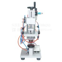 SHENLIN Pnömatik Parfüm Sıkma makine kapağı başına metal kapak Basın makine kapağı Sızdırmazlık Makinesi Parfüm Crimper Mühürleyen