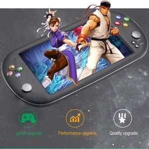 Image 3 - 7.0 אינץ כף יד משחק נגן רטרו ארקייד X16 וידאו משחק קונסולת 16GB תמיכת HD טלוויזיה פלט נייד קונסולת משחקים 8 סימולטורים